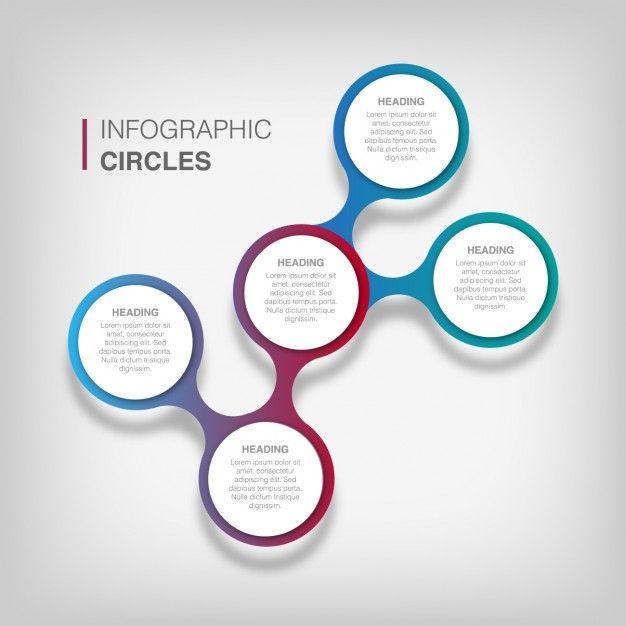 Plantilla infográfica circular Vector Gratis   Utilidades ...