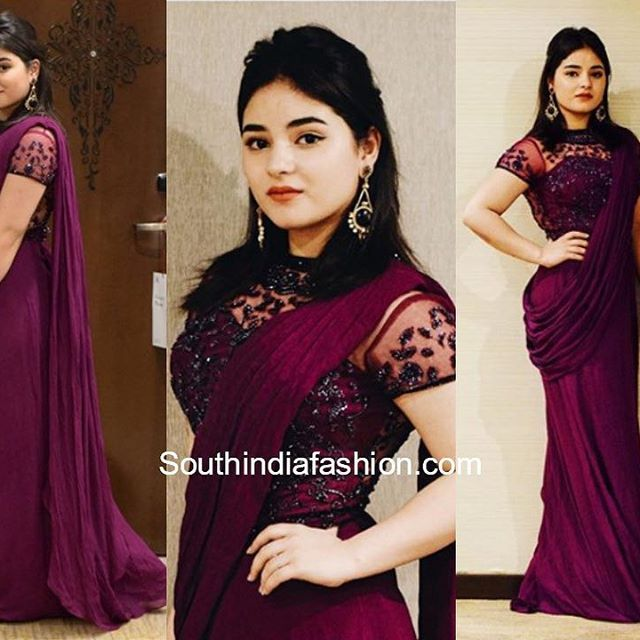 48c3e913e0246f Anita Hassanandani aka Shagun Arora s latest trendy saree blouse designs  from Ye Hai Mohabbatein.