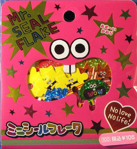 Kawaii Mr Seal Flake Sticker Sack by CutePaperEtc on Etsy, $3.00