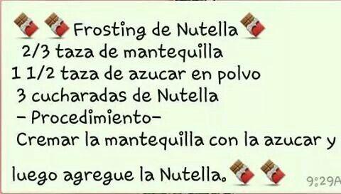 Frosting de nutella
