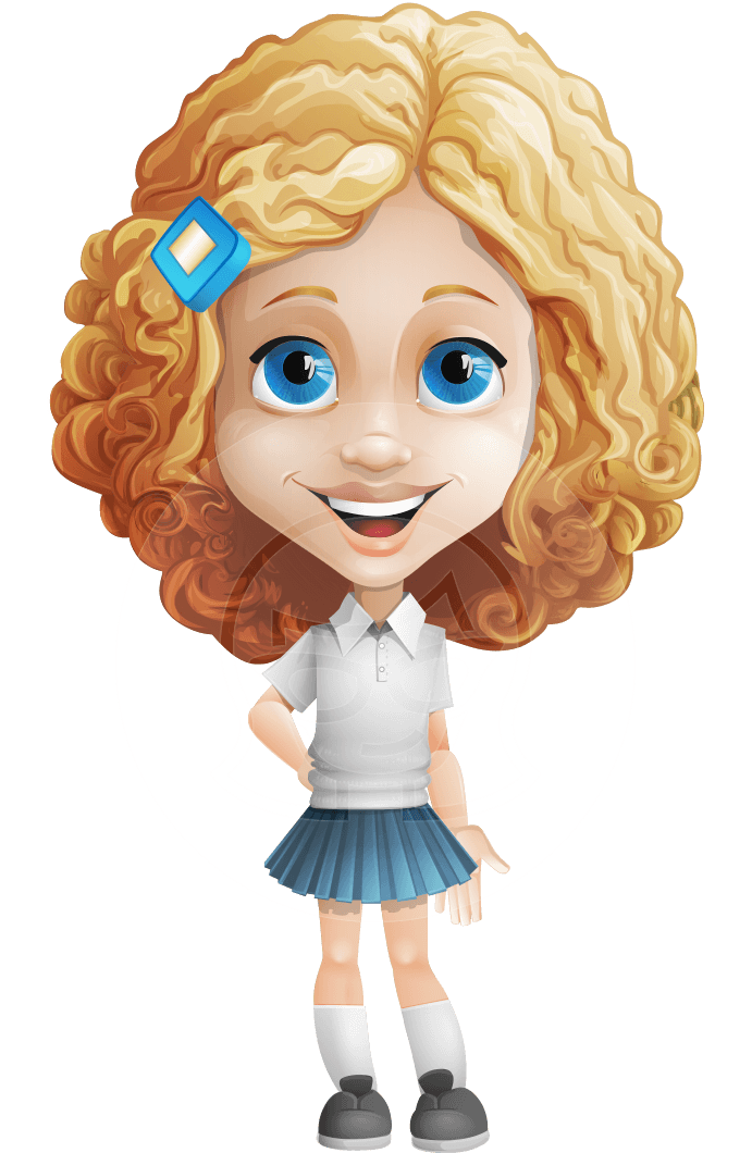 Little Blonde Girl With Curly Hair Cartoon Vector Character 112 Illustrations Graphicmama Curly Hair Cartoon Little Girl Cartoon Girl Cartoon Characters