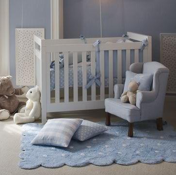 Alfombra lorena canals lavable galleta azul enfants et - Alfombras habitacion bebe ...
