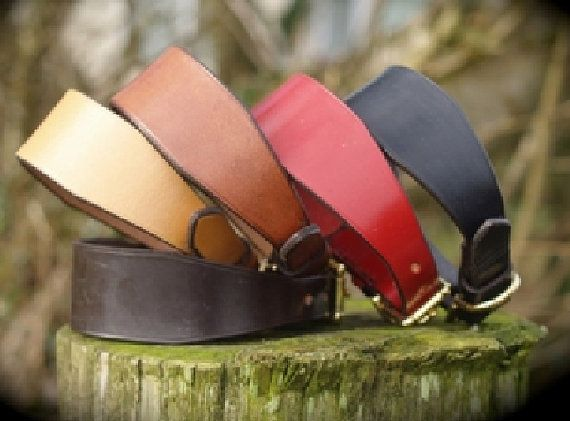English Leather Whippet Collar