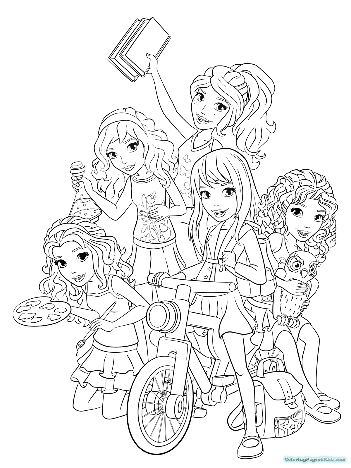Lego Friends Coloring Pages childlifeme
