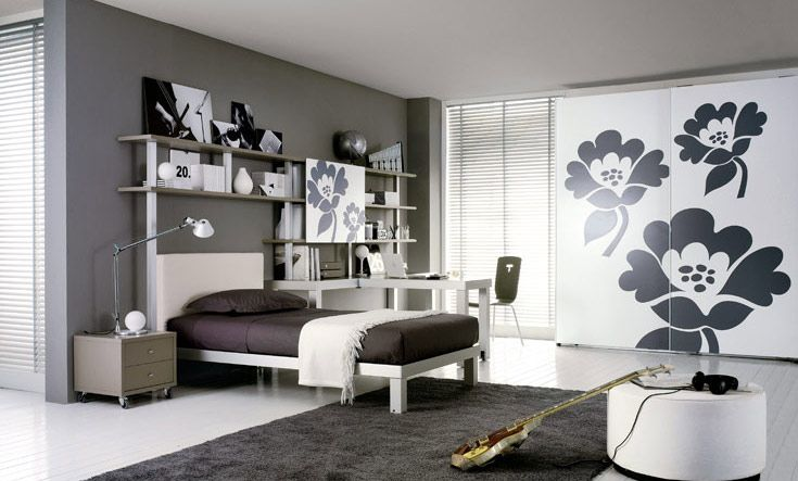 contemporary teen bedroom design ideas with bright color will brings a cheerful feeling