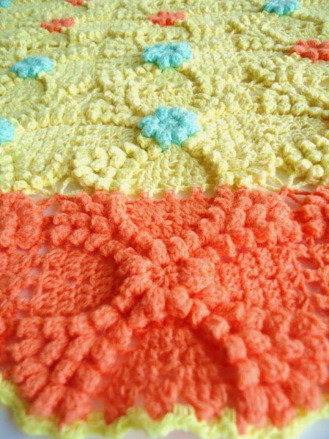 MemeRose: crochet popcorn granny square | crochet | Pinterest | Häkeln