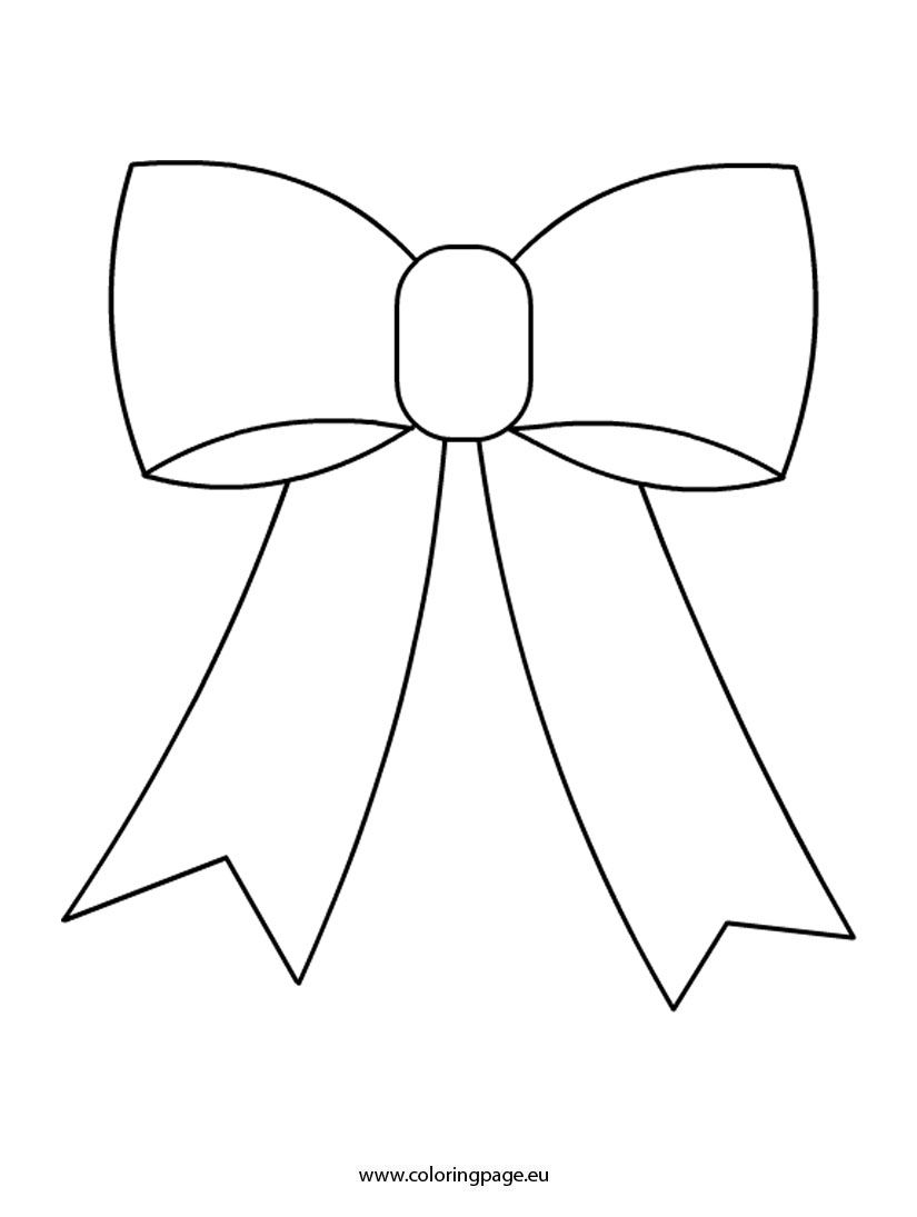 Cute Bow Coloring Pages Free Coloring Pages