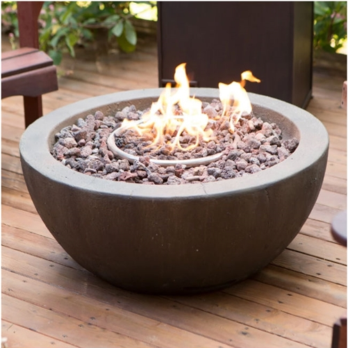 28 Inch Round Enviro Stone Fire Pit Bowl With Propane Tank Hideaway Table Gas Firepit Propane Fire Pit Natural Gas Fire Pit