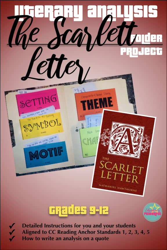 Literary Analysis Folder Project for use with The Scarlet