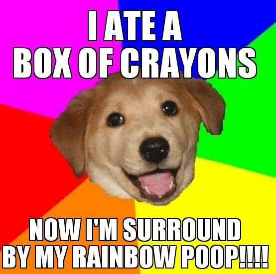 Never eat a box of crayons