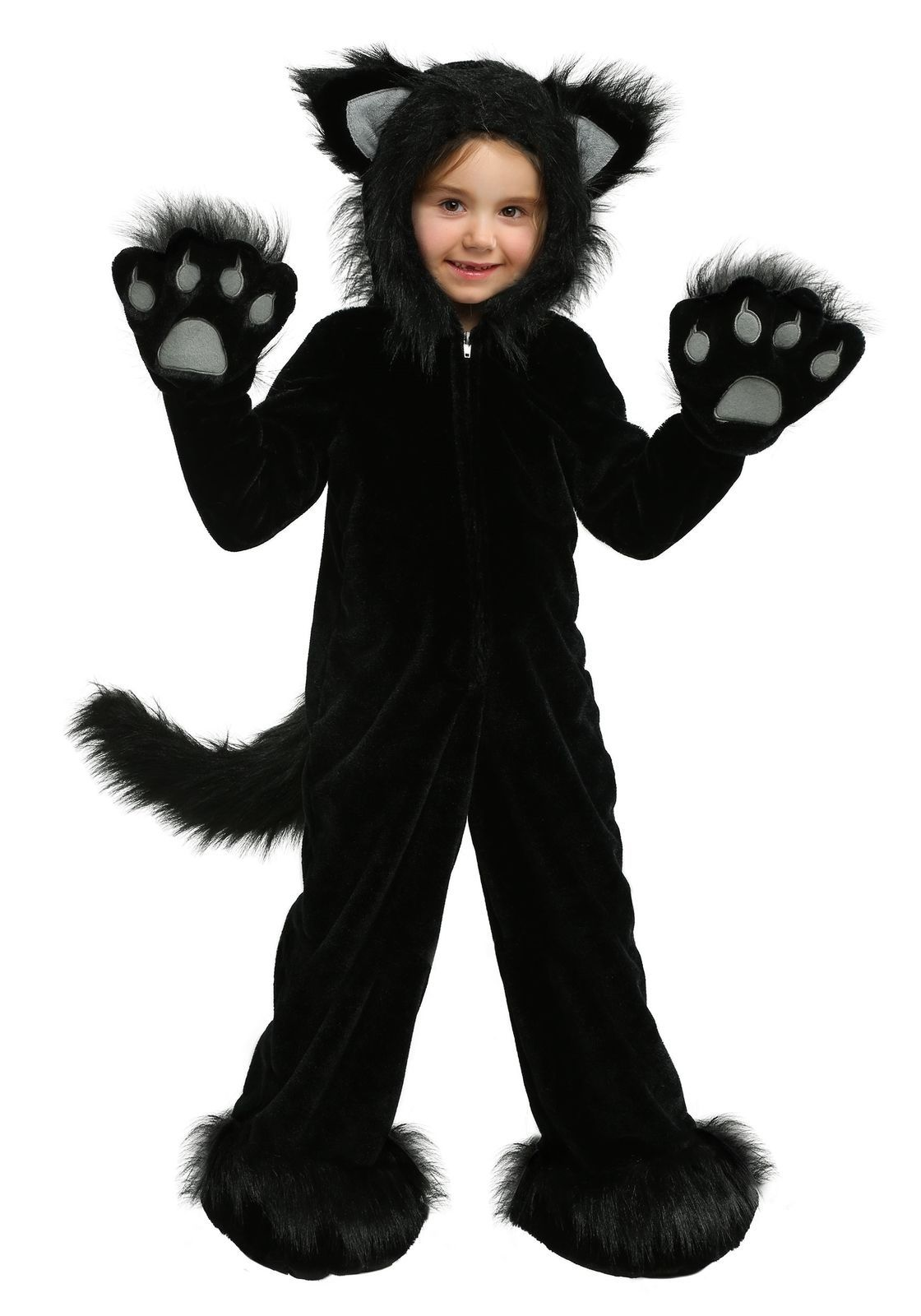 Premium Black Cat Kids Costume Black Cat Costumes Cat Costume Kids Cat Halloween Costume