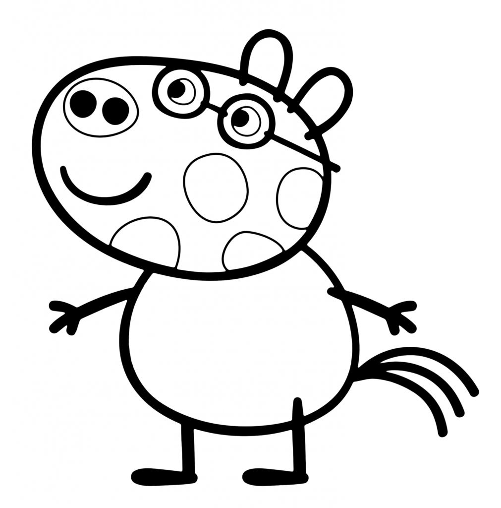 Pedro Pony In Peppa Pig Coloring Page Peppa Pig Coloring Pages Peppa Pig Colouring Dog Coloring Page