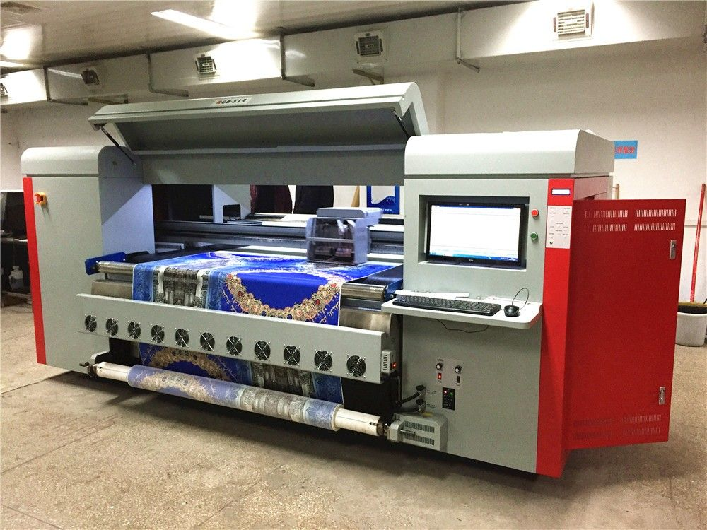 DX5 direct digital printing machine, View digital fabric printing