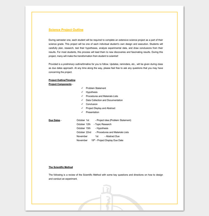 Project Outline Template 17 For Word Ppt Excel And Pdf Format Project Timeline Template Project Proposal Template Outline