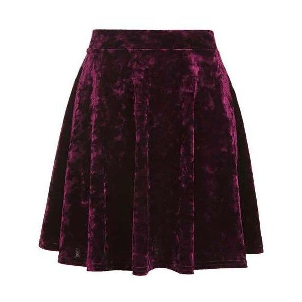 Velvet Flippy Skirt (80 BRL) ❤ liked on Polyvore featuring skirts, velvet skirt, purple velvet skirt, purple skirt, flippy skirt and swing skirt