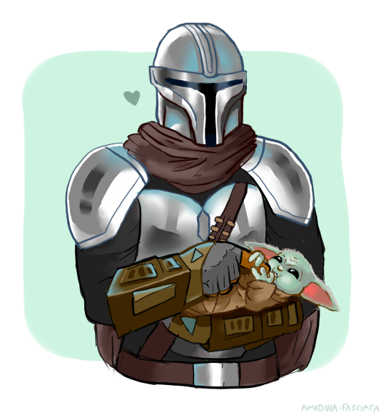 Dad On Duty Mando And Baby Yoda Star Wars Images Star Wars Fandom Star Wars Pictures