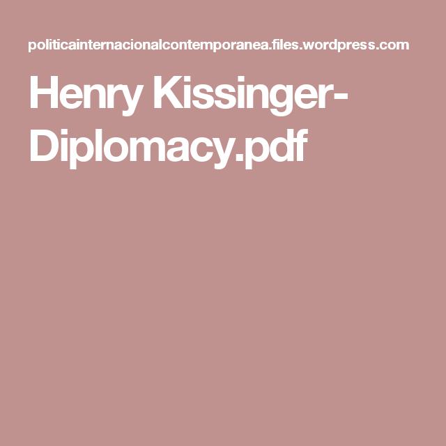 Henry Kissinger- Diplomacy pdf | Books | Logos, Pdf