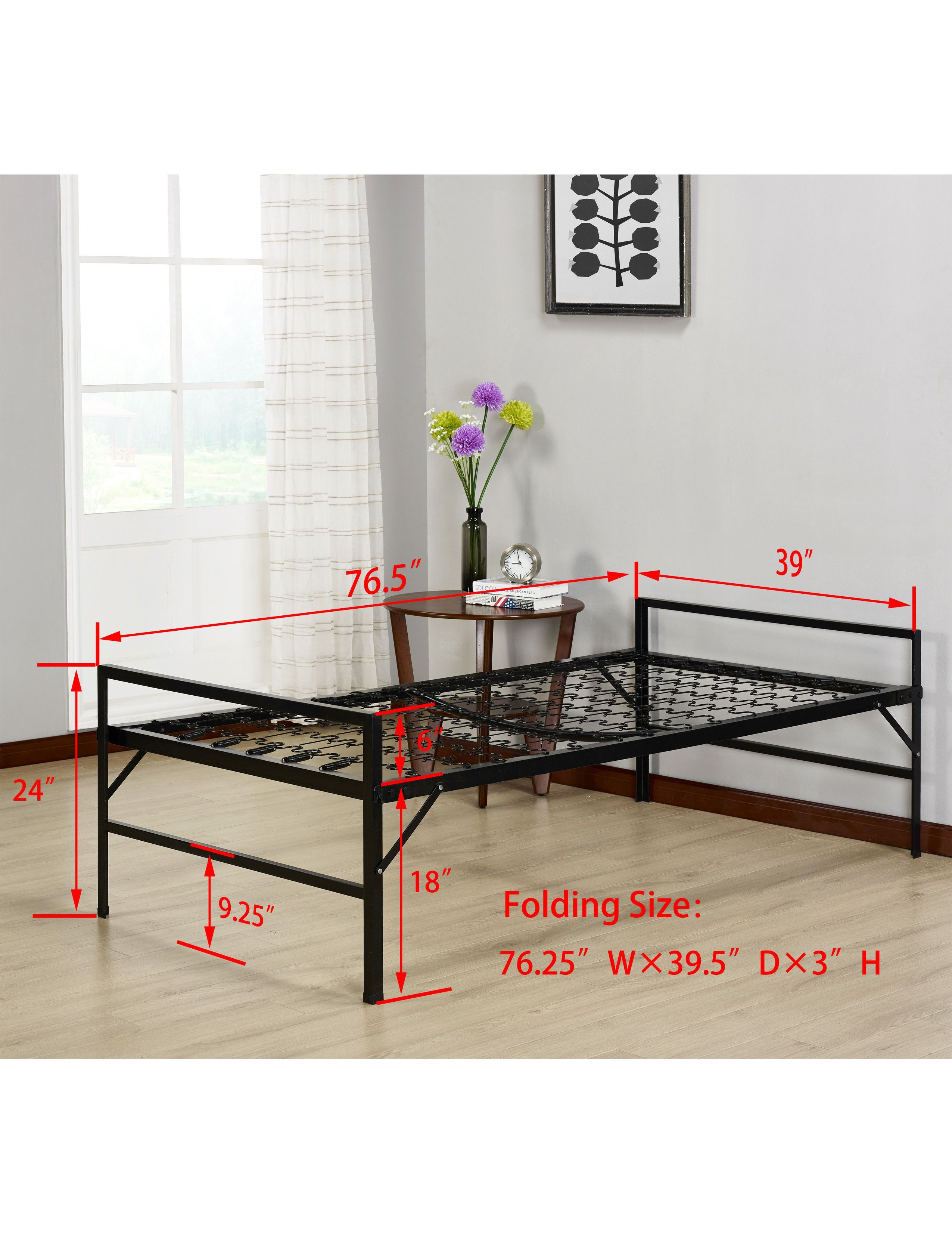 inch mattress twin with guest kitchen size dp folding dhp amazon dining bed com