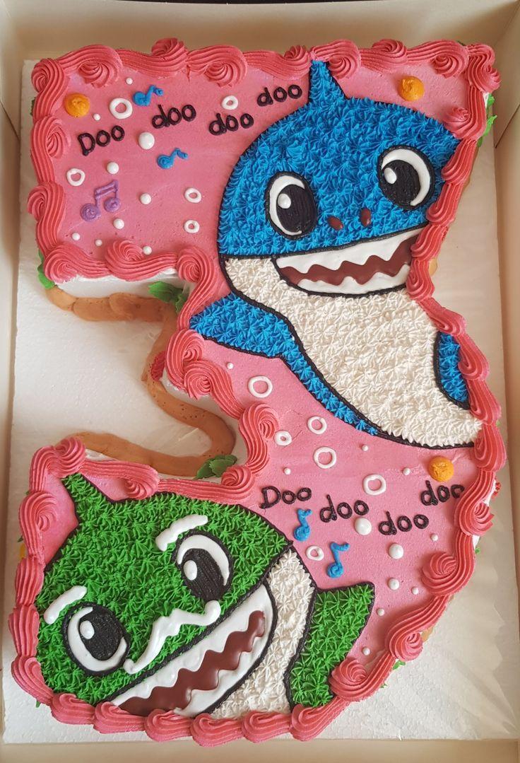 Baby shark cake shark theme birthday shark themed