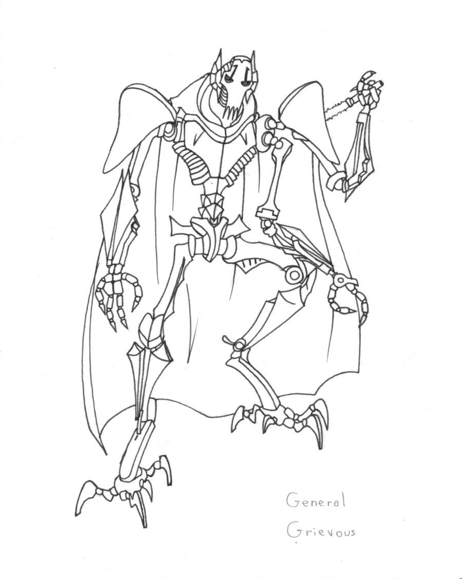 Star Wars Coloring Pages General Grievous - HiColoringPages ...