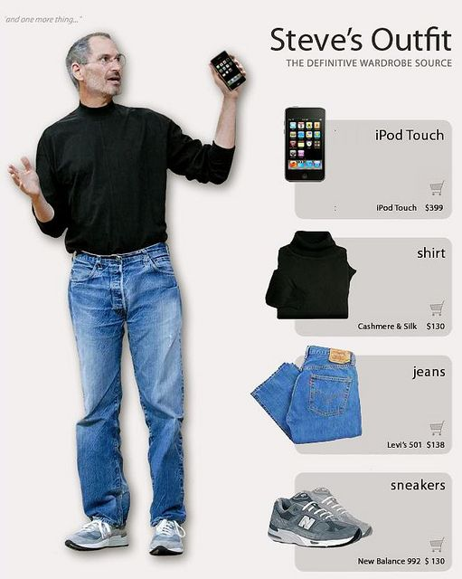 Steve's outfit   Steve jobs, Steve jobs apple, Fashion