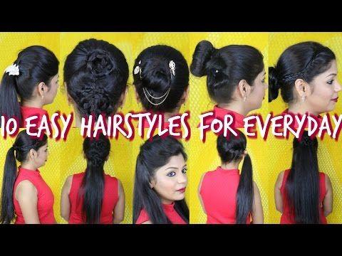 10 Easy Hairstyles For Everyday | SuperPrincessjo - YouTube | Hair ...