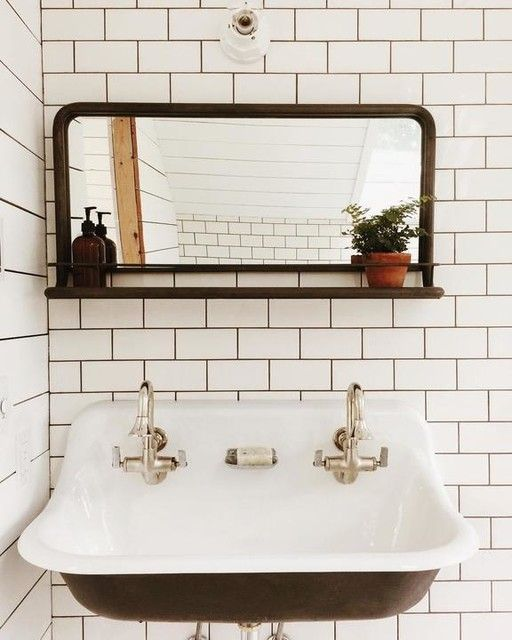Brockway 3 Wall Mounted Wash Sink With 2 Faucet Holes In