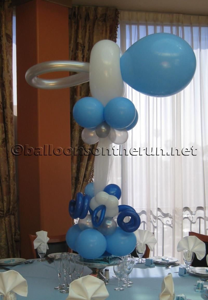 Baby Shower Centerpieces | Balloons on the Run/Party Decorations R ...