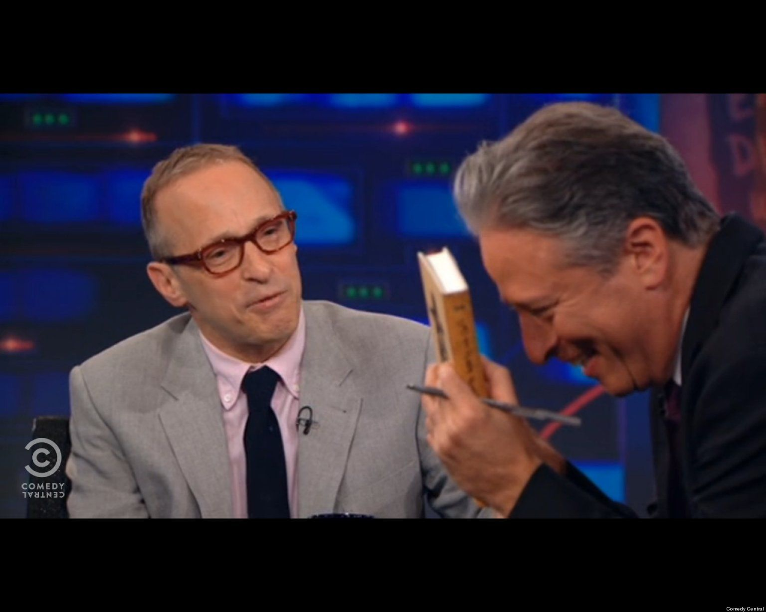 watch david sedaris makes jon stewart lose it very funny funny watch david sedaris makes jon stewart lose it