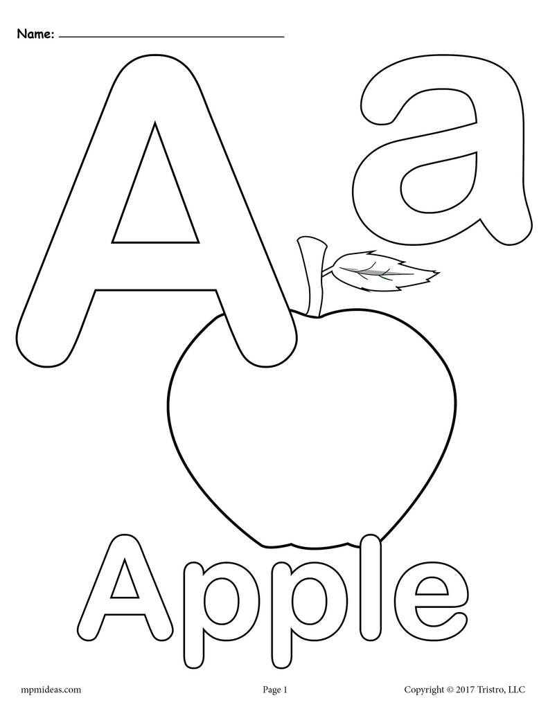 Letter A Coloring Pages 3 Printable Alphabet Coloring Pages Abc Coloring Pages Abc Coloring Letter A Coloring Pages