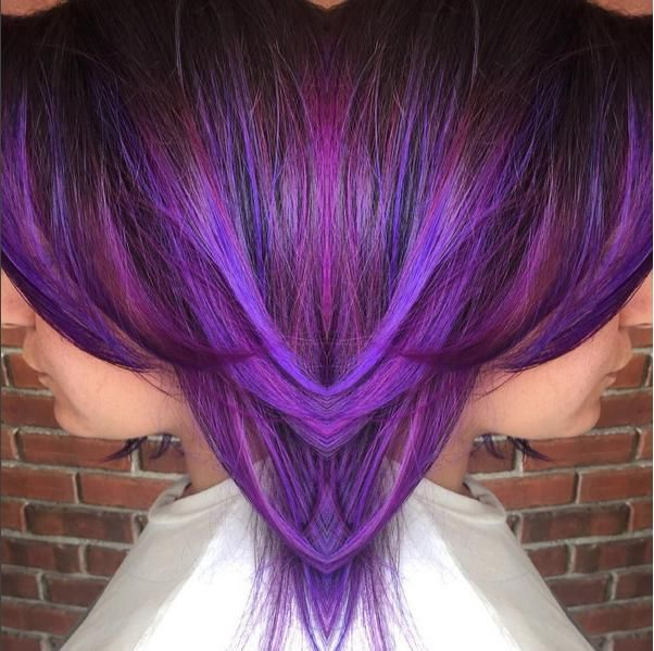 Love this #KenraColorCreative purple by celebrity stylist Julius Michael! He used Violet and Violet+Teal for added dimension. #KenraColor #PurpleHair