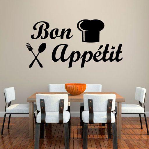 Vinilo decorativo bon appetit una famosa frase francesa - Vinilos para la cocina ...