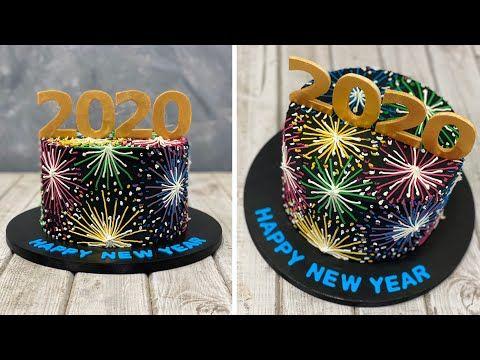 New Years Cake 2020   Gâteau du Nouvel An 2020   Pastel de año nuevo   새해 케이크 2020   เค้กปีใหม่ 2020