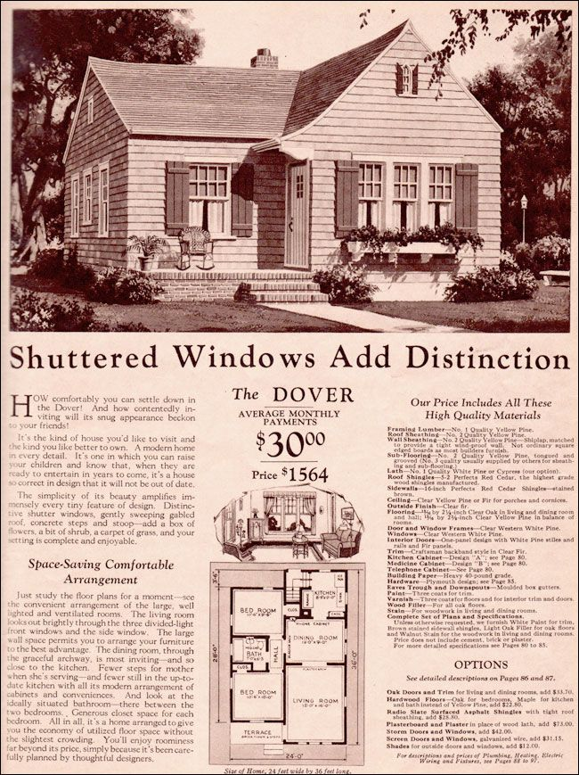 1930 Montgomery Ward Dover Make Front Bedroom Smaller To Extend