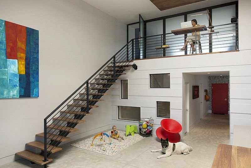 Two Story Loft With A Fresh New Look Conceived By Zeroenergy Design Loft Design Loft Apartment Designs Modern Loft