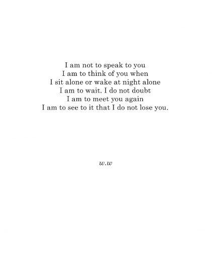 Walt Whitman Poems About Love 5