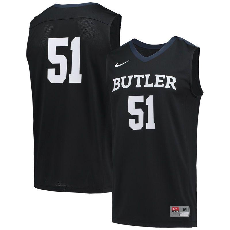 Nike Butler Bulldogs 51 Replica Basketball Jersey Navy Blue