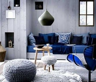 Gray And Blue Living Room Design Idea. More Gray Than Blue, Love The Touch  Of Blue, Quite A Cold Color Scheme.