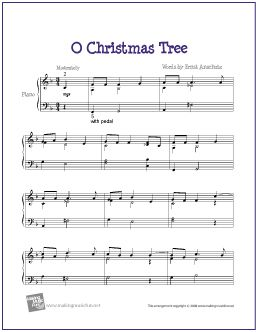 O Christmas Tree | Free printable sheet music, Printable sheet ...