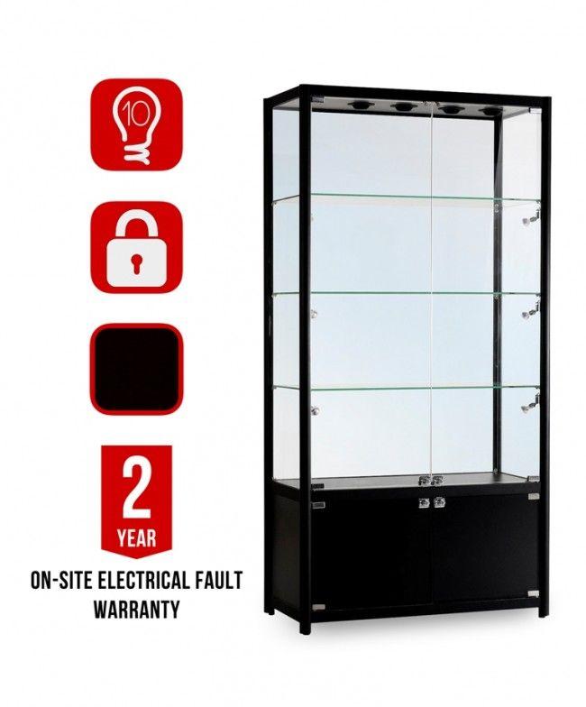 GB-1000 Black Glass Display Cabinet | Витрина | Pinterest ...