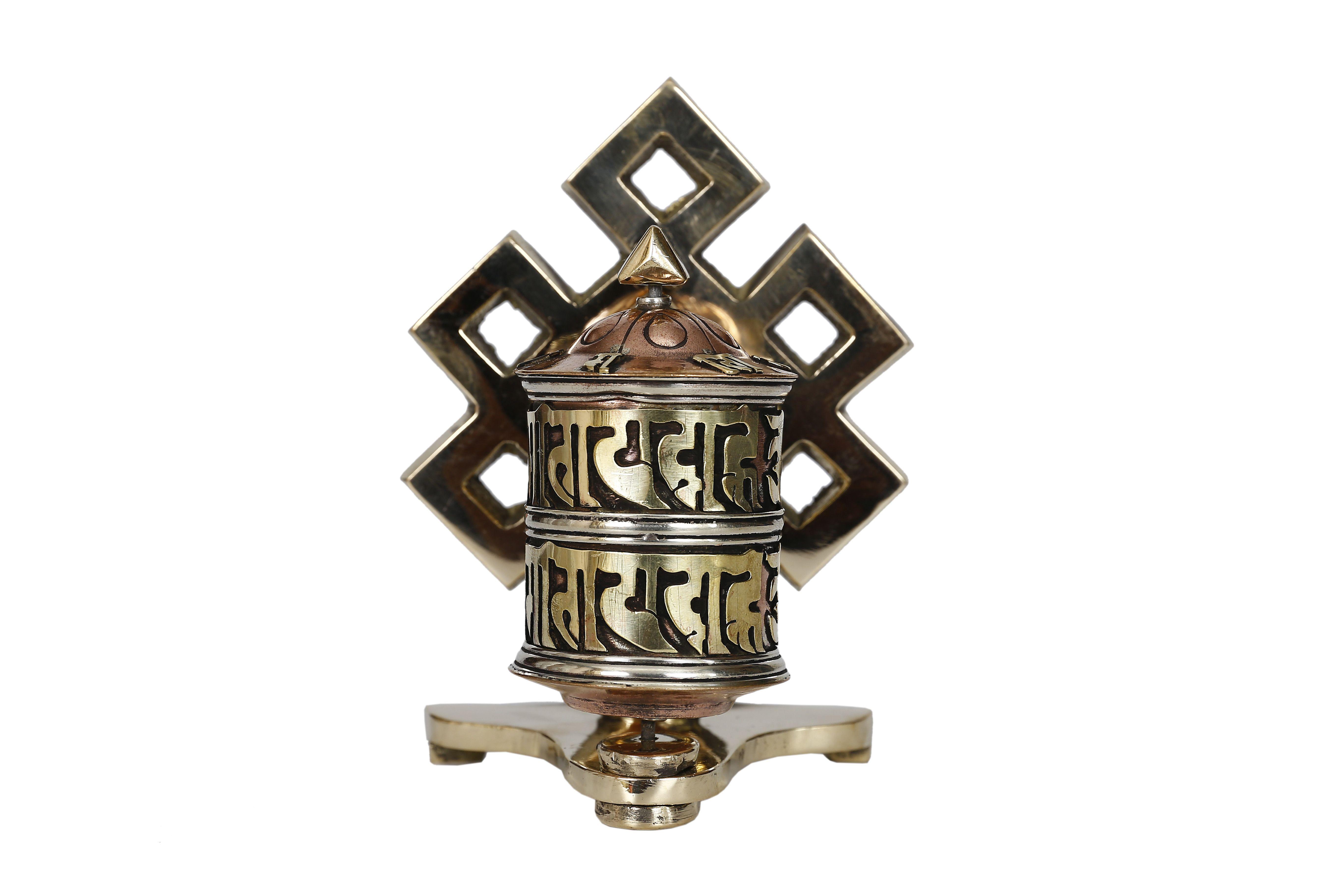 Eternal Knot Symbol Framed Prayer Wheel Pinterest Symbols