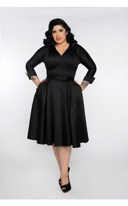 Black 50s Dress Plus Size – Little Black Dress | Black Lace ...