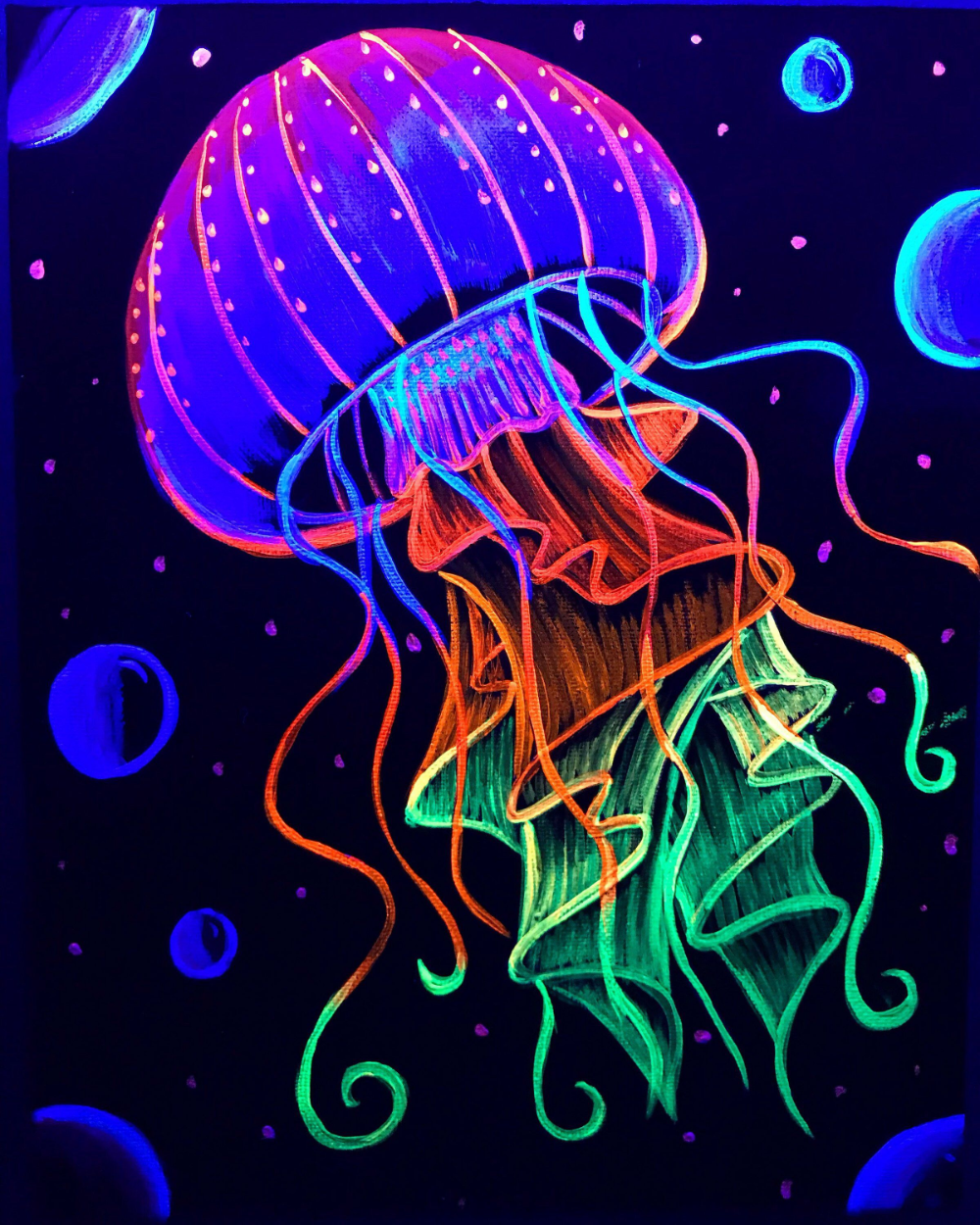 Neon Paint Miniatures Google Search Jellyfish Painting Glowing Art Neon Painting