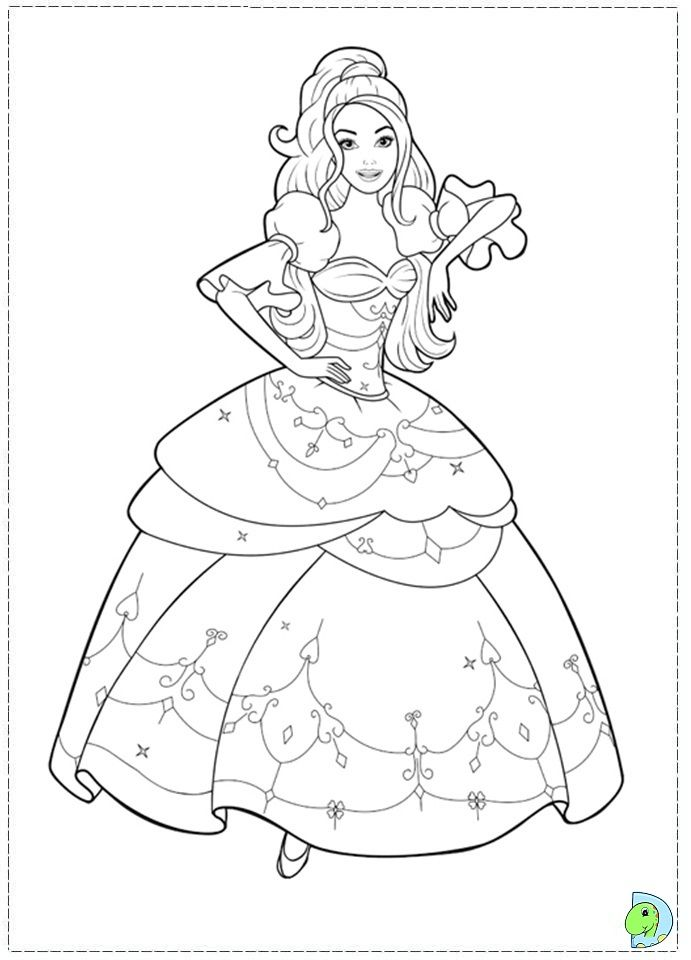 how to draw barbie colouring pages - Drawing And Colouring Pictures