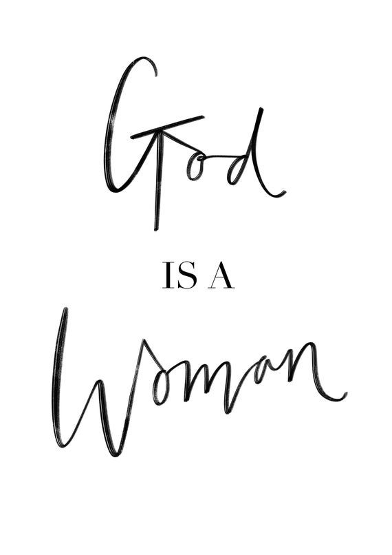 Ariana Grande Lyrics Print God Is A Woman Print Ariana Grande