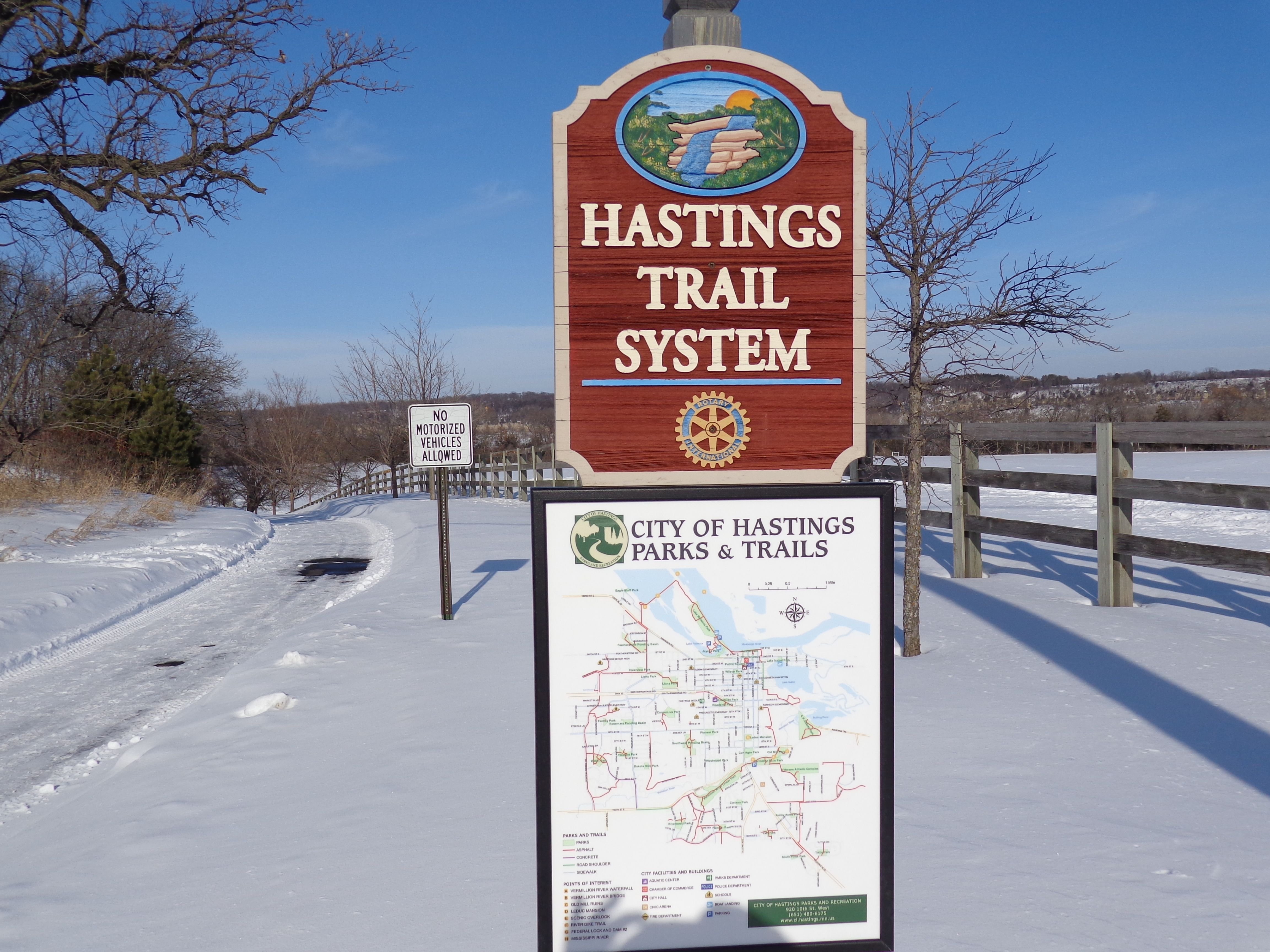 Sign at Headwaters Park trails, Outdoor pavilion, Nature