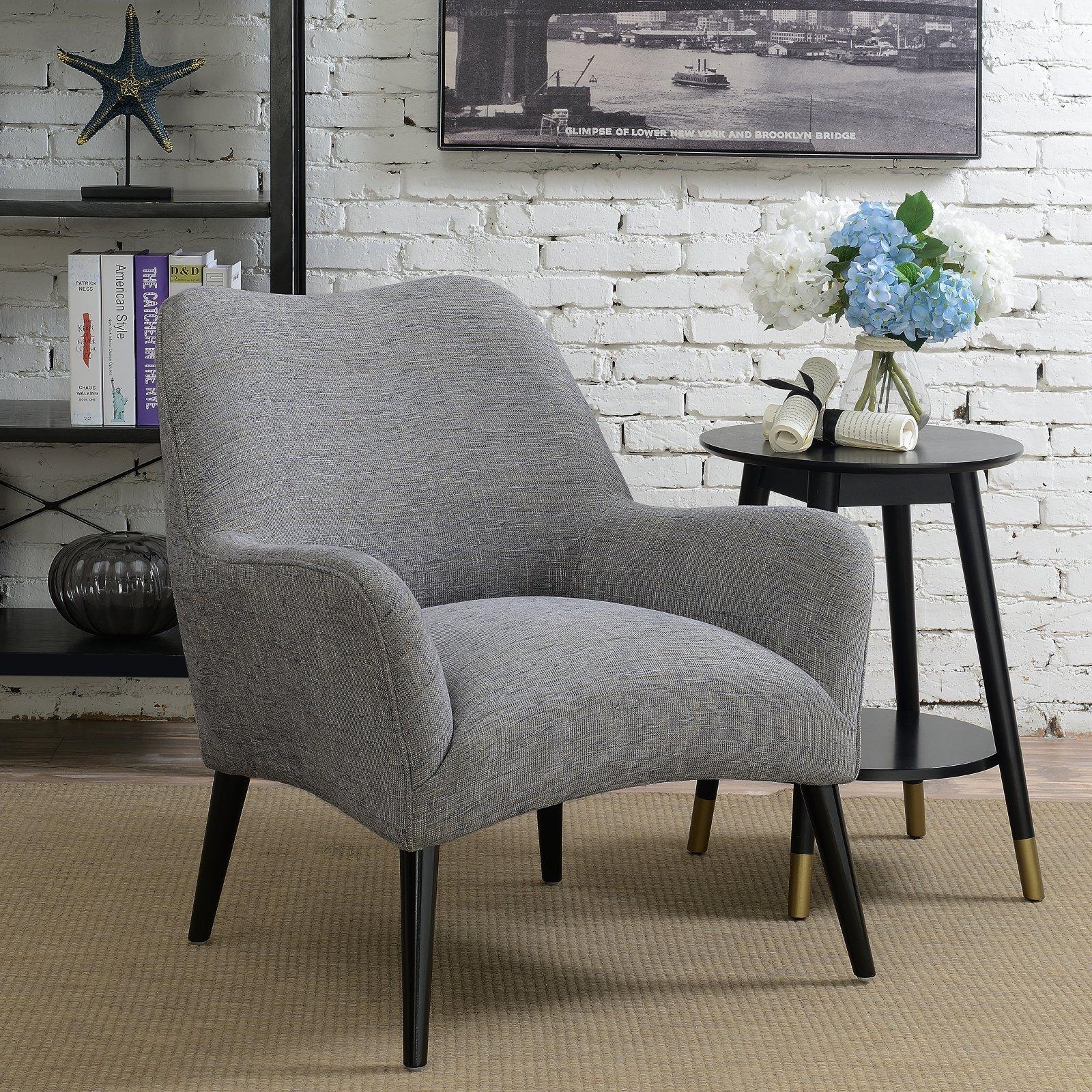Right2home Modern Arm Chair Grey Armchair Armchair Leather
