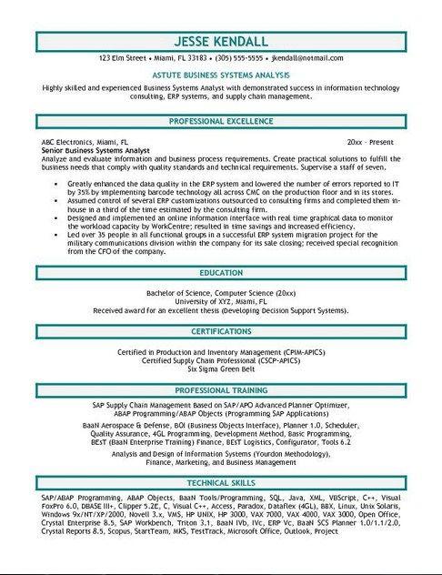 Business Analyst Resume Sample Job Resume Samples Business Resume Business Analyst Resume Business Analyst