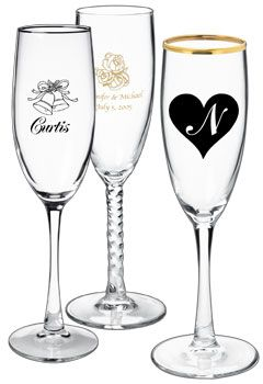 Personalized Wedding Champagne Flutes Bargainmugs