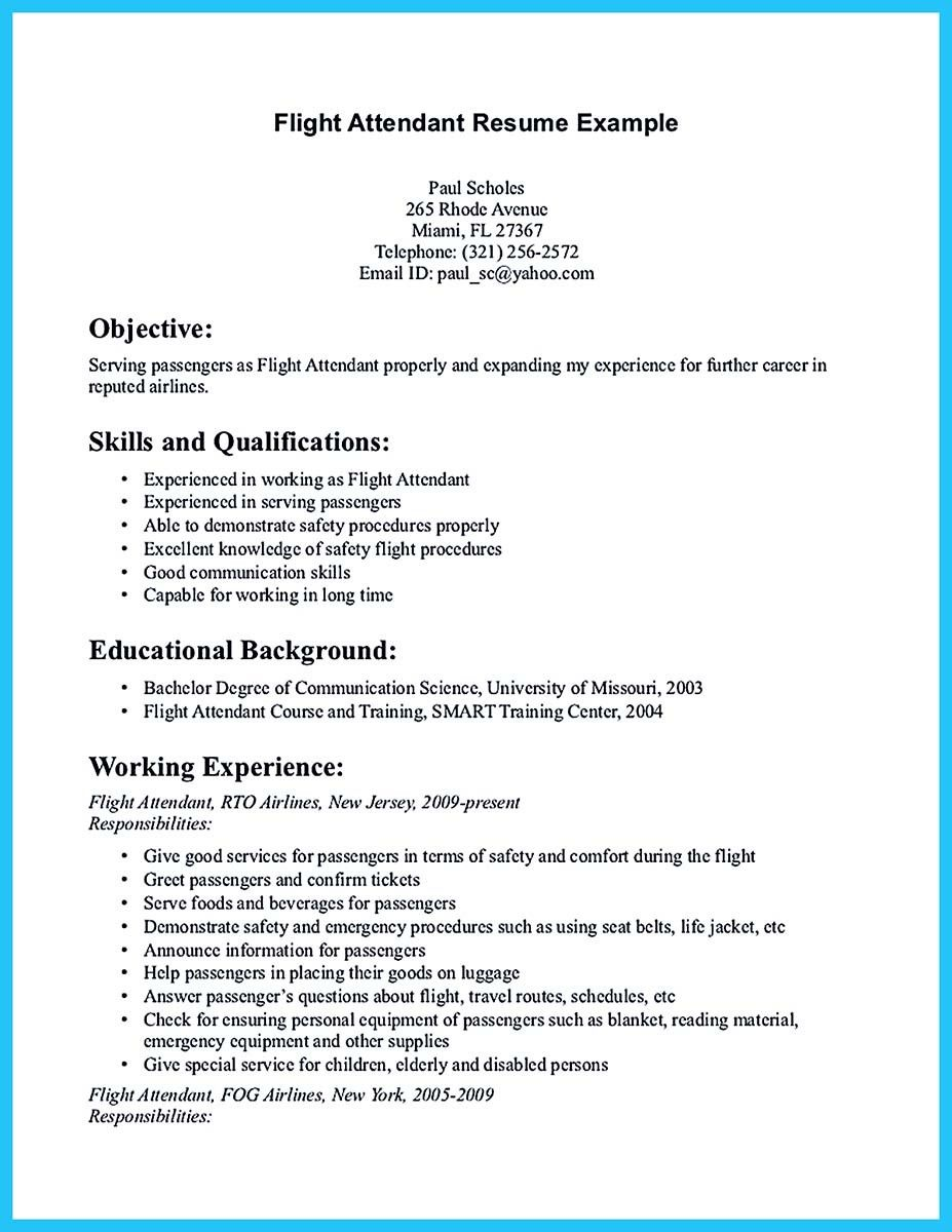 Pin On Resume Template In 2019 Flight Attendant Resume Flight
